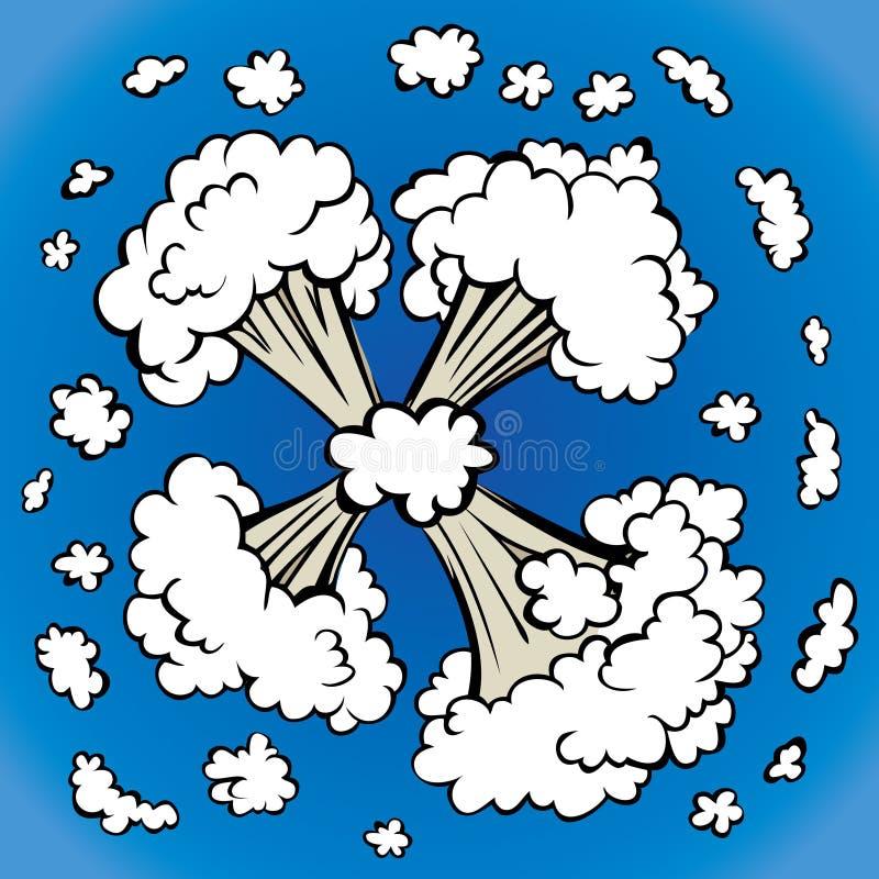 Explosion Blumenhintergrund mit Gras stock abbildung