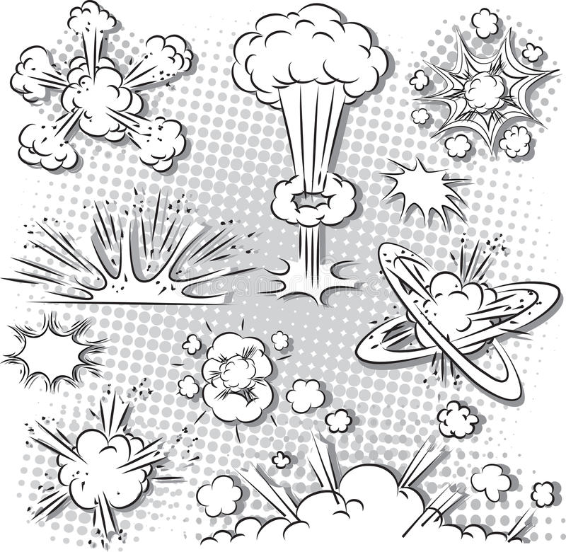 Explosion Bubbles royalty free illustration
