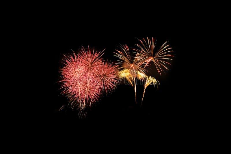 Explosion color?e de feux d'artifice dans le festival annuel photographie stock