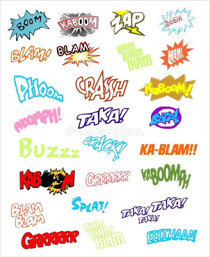 Explosion de bande dessinée illustration stock