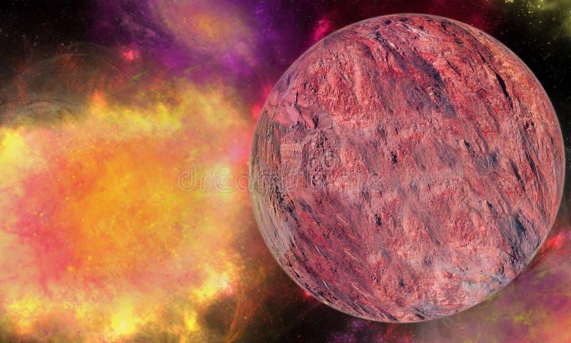 Explosion d'énergie de l'espace illustration libre de droits
