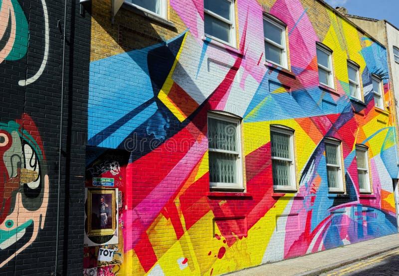 Explosion d'art abstrait peint coloré de rue photos stock