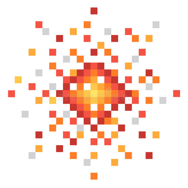 Explosion d'art de pixel illustration libre de droits