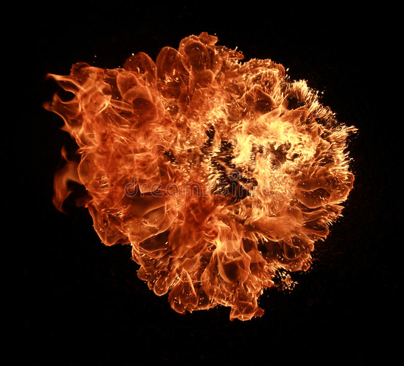 Explosion d'incendie images stock