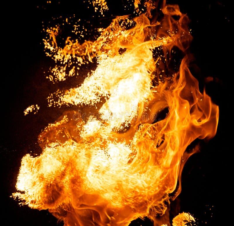 Explosion d'incendie photo libre de droits