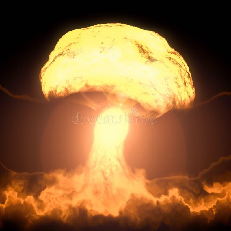 Explosion de bombe nucléaire illustration libre de droits