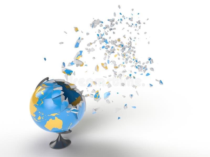 Explosion de globe illustration stock