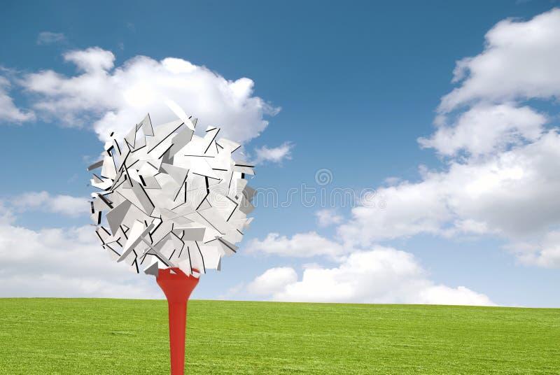 Explosion de golf illustration de vecteur