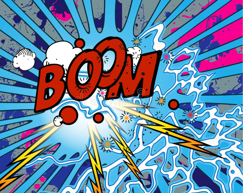 Explosion de grondement illustration stock