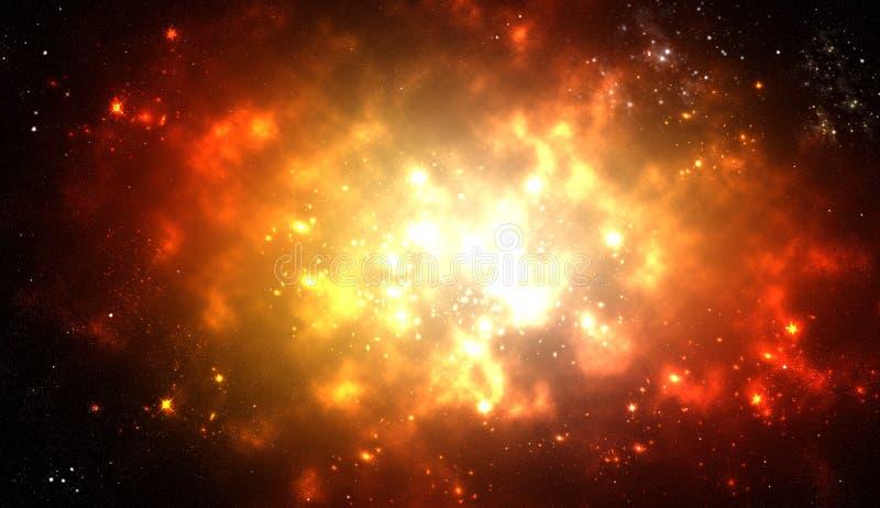 Explosion de l'espace image stock