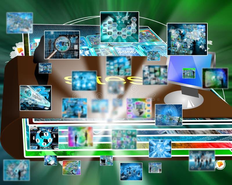 Explosion de l'information images libres de droits