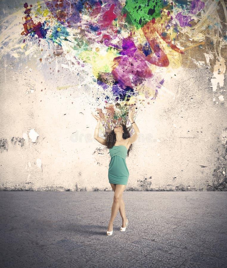 Explosion de mode et de créativité images stock