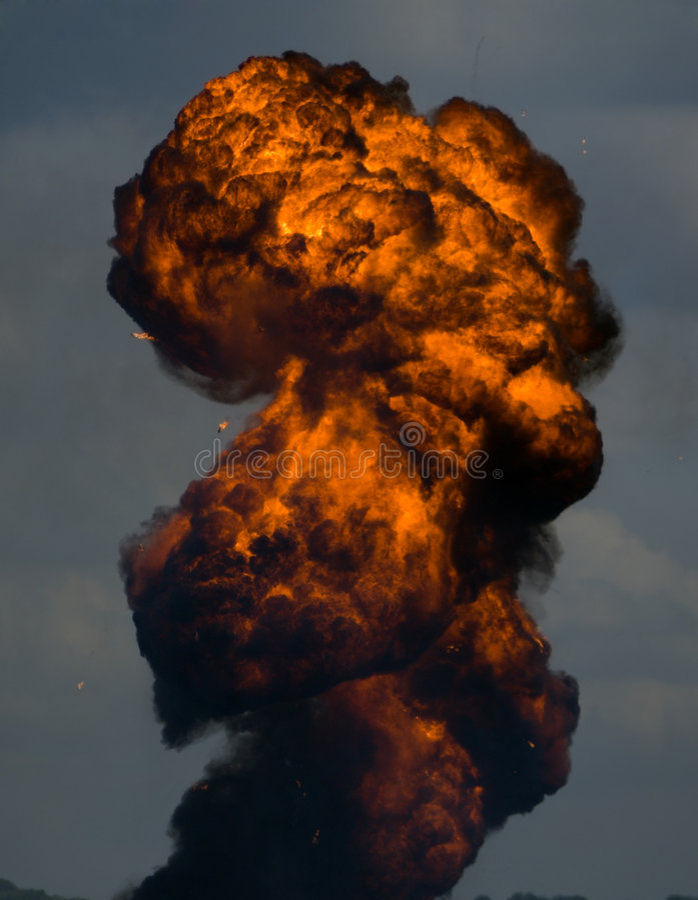 Explosion de Piller photo libre de droits