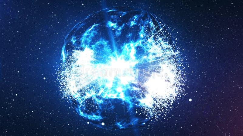 Explosion de Spheri Big Bang dans l'univers illustration libre de droits