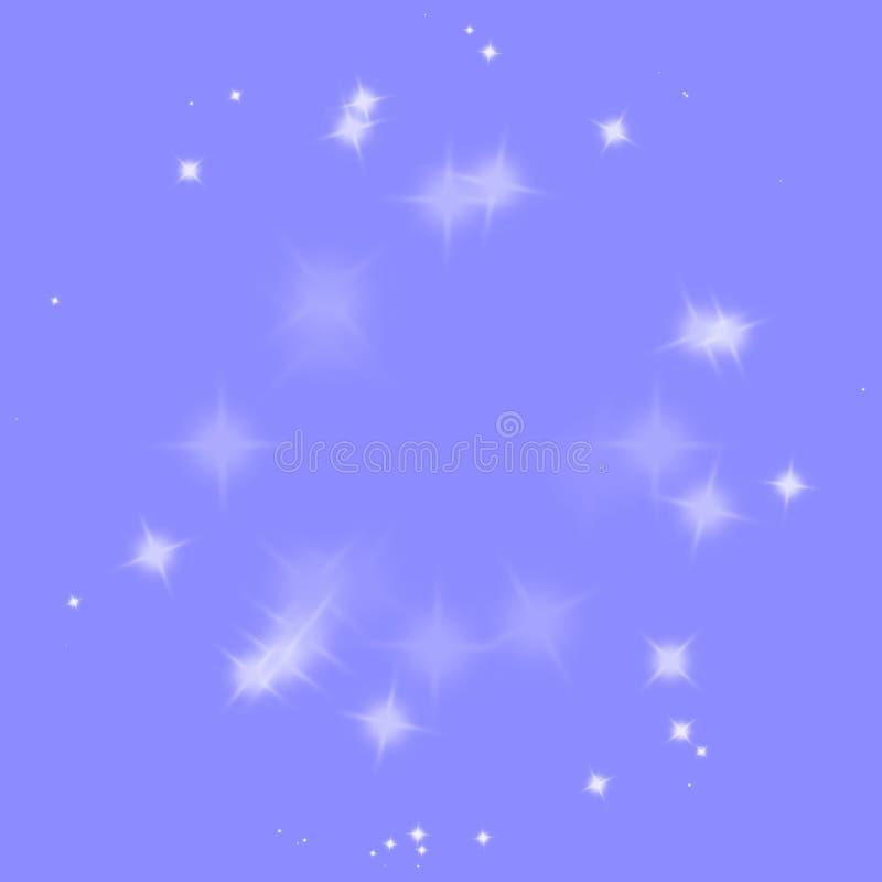 Explosion der blauen Sterne, Explosion, Knall, Explosion, Hintergrund explodierend vektor abbildung