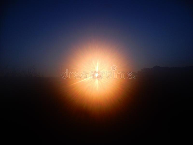 Explosion der Leuchte stockfotos
