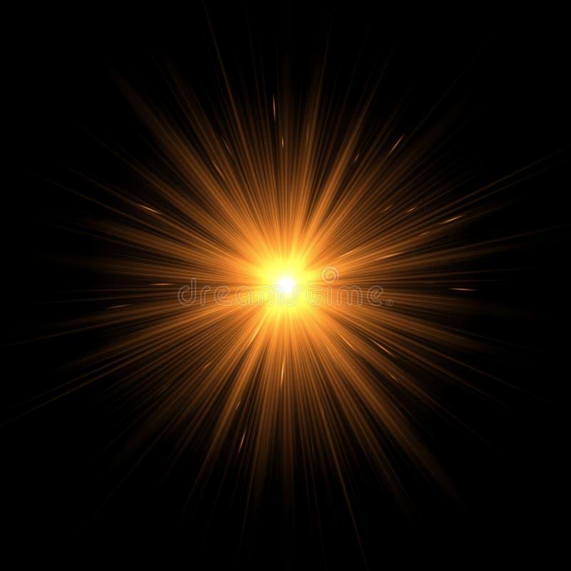 Explosion des goldenen Sternes vektor abbildung
