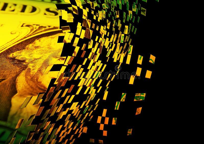 Explosion du dollar illustration de vecteur