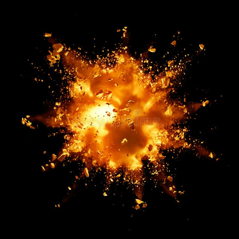 Explosion du feu illustration libre de droits