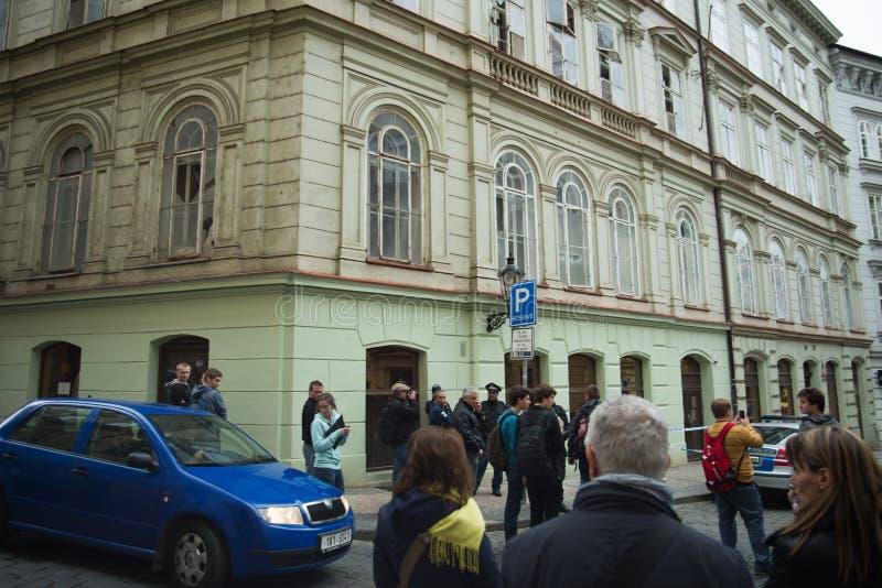 Explosion du gaz de Prague au le 29 avril 2013 photographie stock