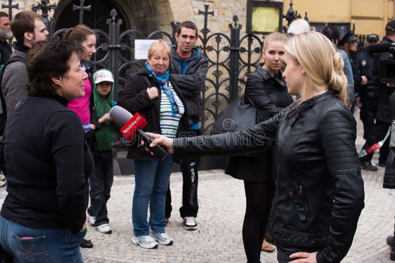Explosion du gaz de Prague au le 29 avril 2013 images libres de droits