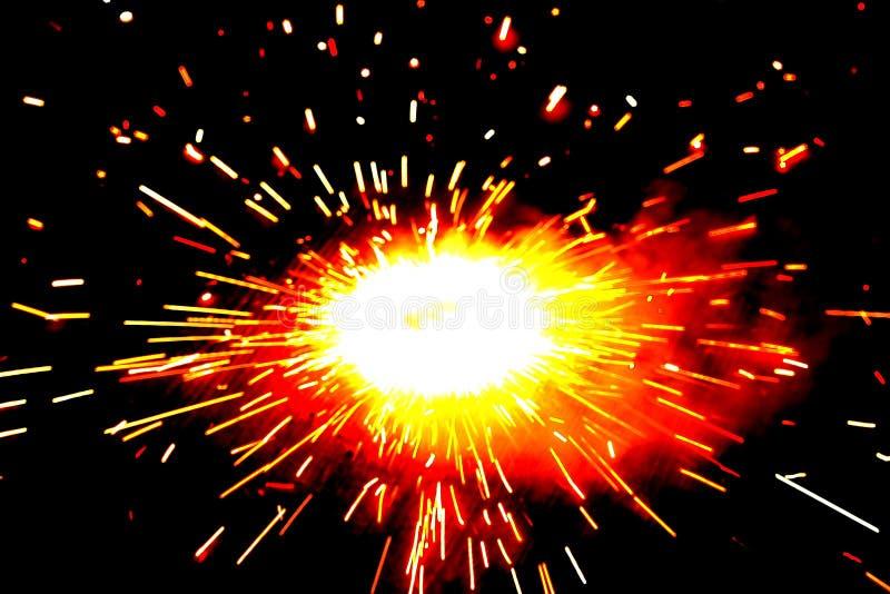Explosion eines Krachers lizenzfreie stockbilder