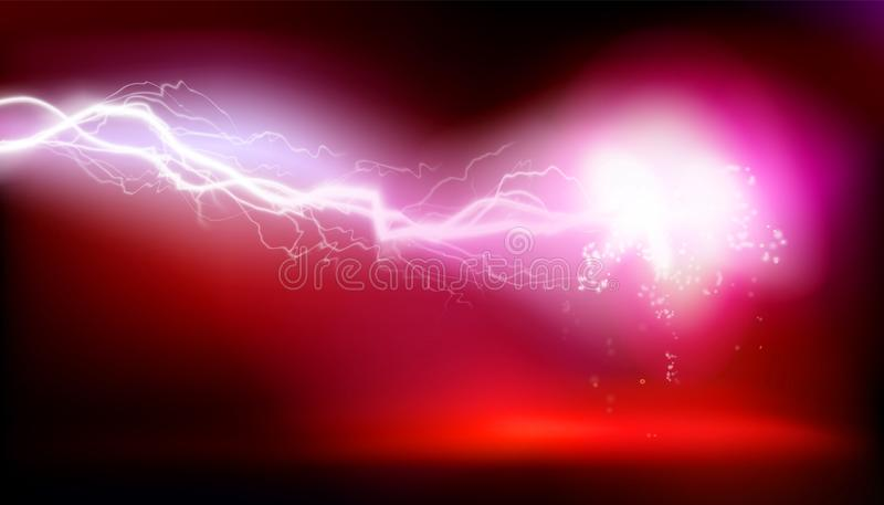 Explosion, electric discharge. Vector illustration. Red explosion, plasma, electric discharge. Vector illustration royalty free illustration