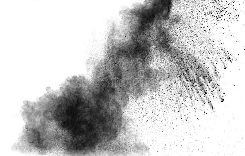 Explosion för svart pulver royaltyfri bild