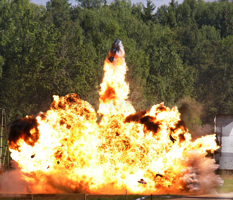 Explosion a flame stock images