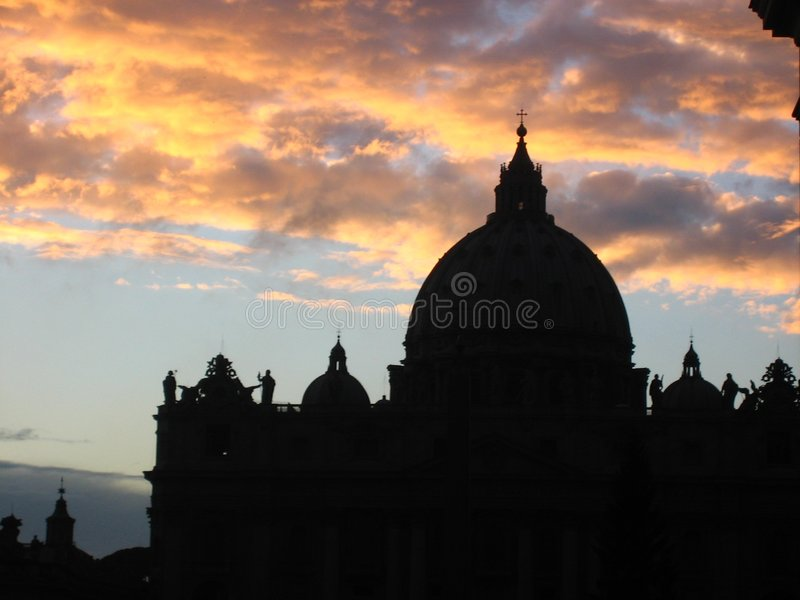 Explosion of glory over the Vatican royalty free stock photos