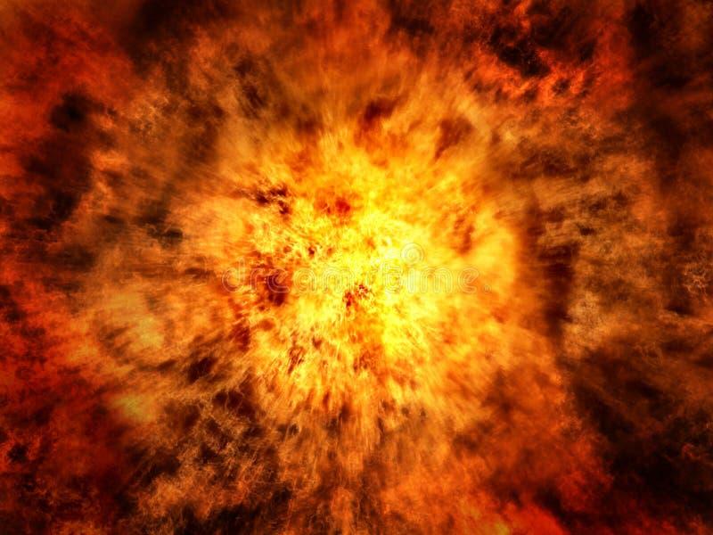 Explosion-Hintergrund lizenzfreie stockfotografie