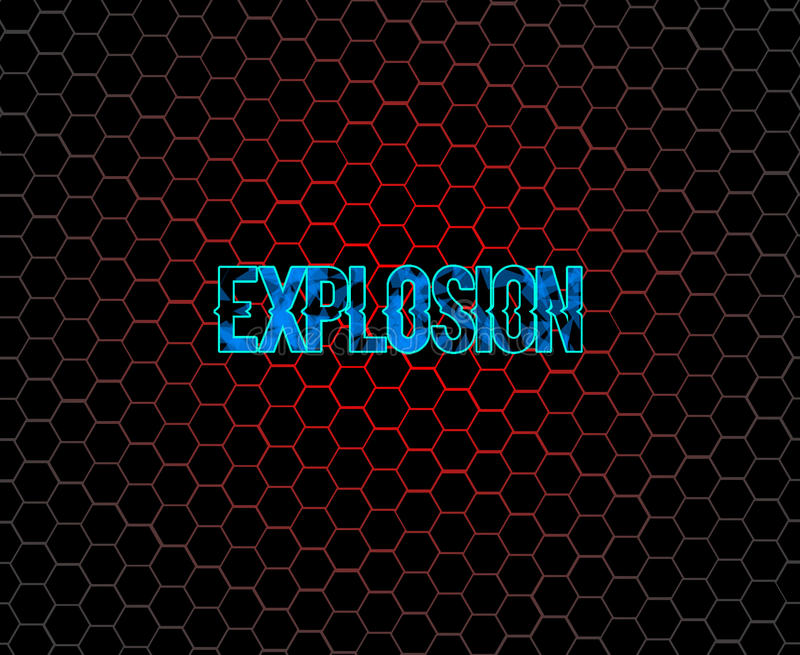 Explosion. This is a honeycomb wallpaper if you want without the text i will upload that too on your request royalty free stock photo
