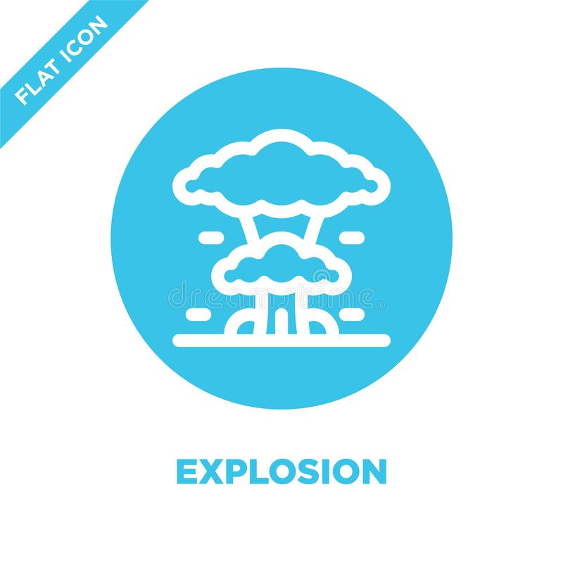 explosion icon vector. Thin line explosion outline icon vector illustration.explosion symbol for use on web and mobile apps, logo vector illustration