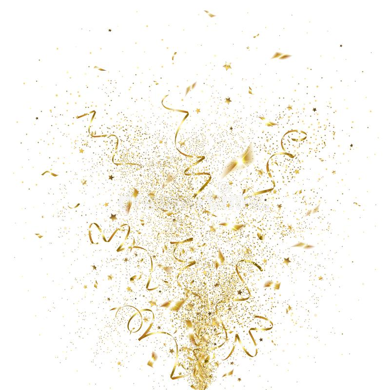 Free Explosion Of Golden Confetti Stock Images - 133588354