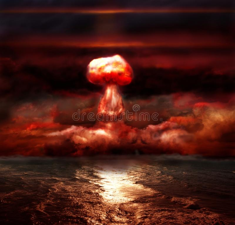 Free Explosion Of Nuclear Bomb Royalty Free Stock Image - 17145196