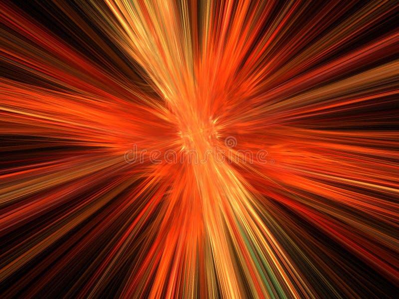 Explosion orange d'incendie illustration de vecteur