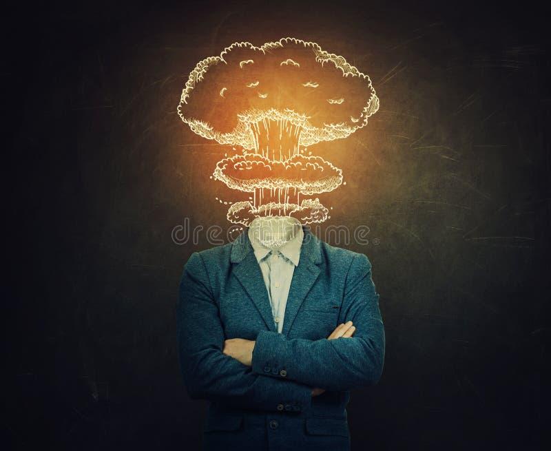 Explosion principale photo stock