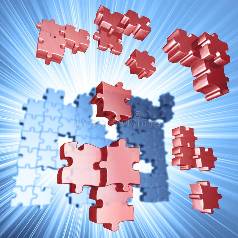 Download Explosion Puzzle stock illustration. Image of icon, brain - 24534837