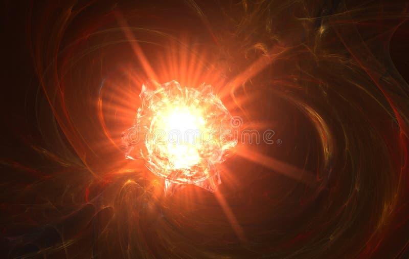 Explosion rouge d'enfer illustration stock