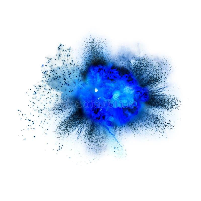 Explosion som isoleras på vit royaltyfria foton
