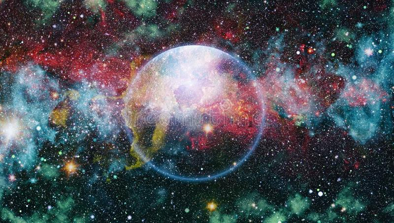 Colorful deep space. Universe concept background. Elements of this image furnished by NASA. The explosion supernova. Bright Star Nebula. Distant galaxy. Abstract stock illustration