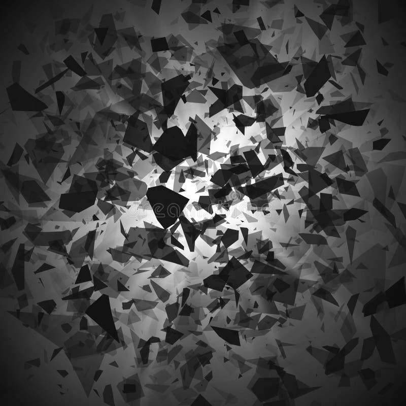 Explosion - Trümmer und Zerstörungseffekt Abstrakte Wolke von St?cken und von Fragmenten nach Explosion Auch im corel abgehobenen vektor abbildung