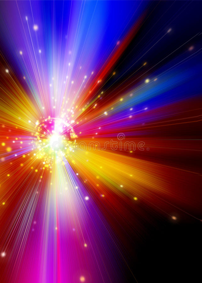 Explosion Of Universal Spectral Power Stock Photo