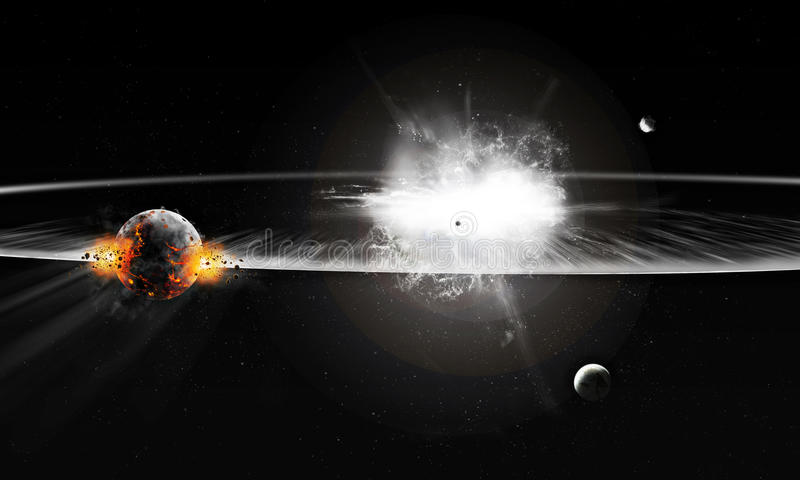 Download Explosion in Universe stock illustration. Illustration of flare - 33801486