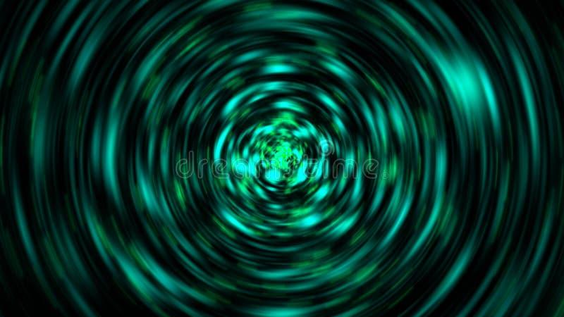 Explosion von Glanzpartikeln mit Radialbewegungsunschärfe, 3d übertragen computererzeugten Hintergrund vektor abbildung