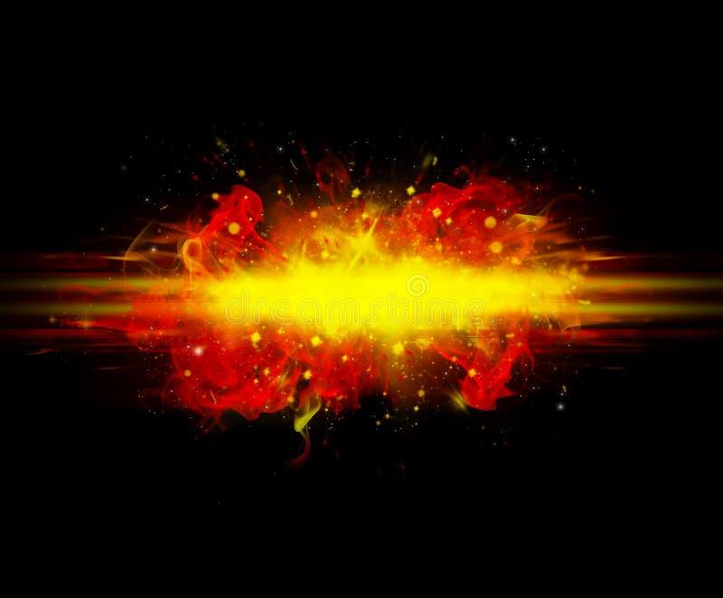 Explosion zwei vektor abbildung
