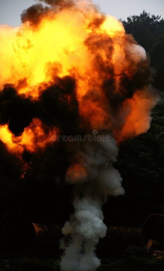 explosionbrand royaltyfria foton