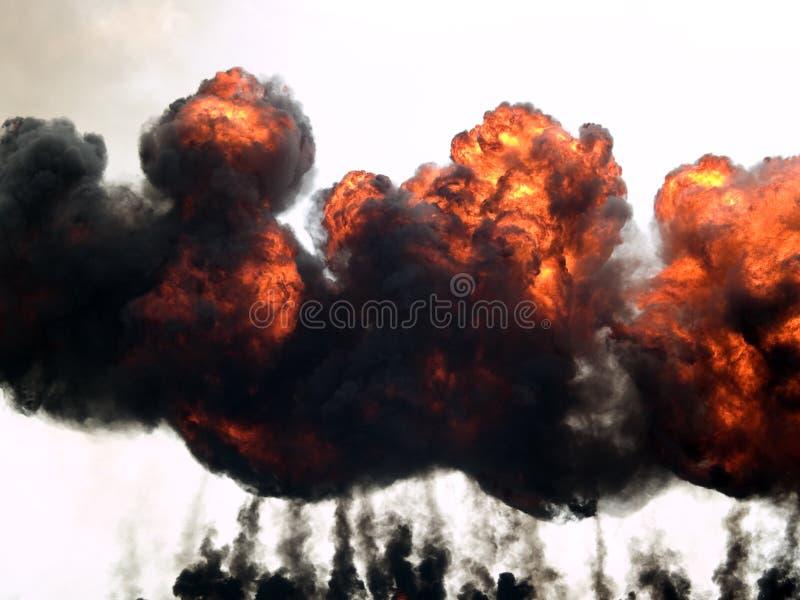 explosionbrandrök arkivbilder