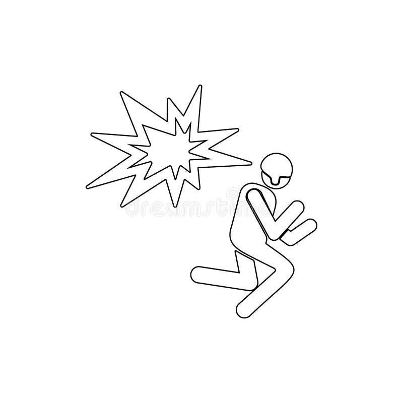 Explosionen arm?, tj?na som soldat ?versiktssymbolen Kan anv?ndas f?r reng?ringsduken, logoen, den mobila appen, UI, UX stock illustrationer