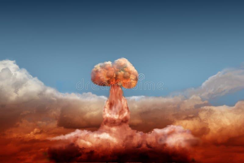 Explosionen av atom- bombarderar royaltyfri bild